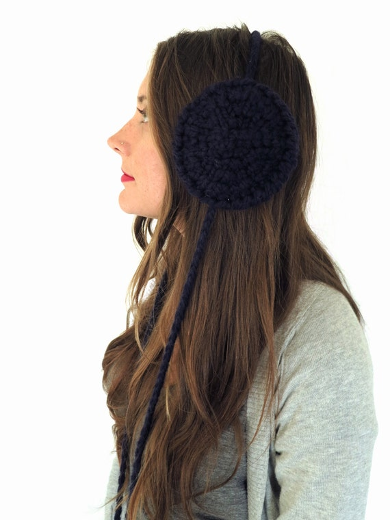 PATTERN for Chunky Soft Knit Ear Muffs Ear Warmers Headband //