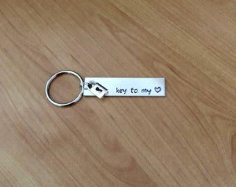 Key To My Heart keychain -  Valentine's gift - boyfriend gift - girlfriend gift - Moving In Gift - New Home Gift