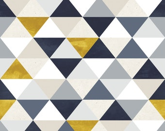 Blue & Gold Triangles Photo Backdrop