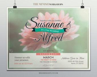 Instant Download - Wedding Invitation, Customizable Wedding Invite, Custom Made Wedding Invitation, Downloadable Wedding Invitation, Wedding