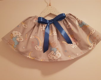 Unicorn rainbow ribbon skirt
