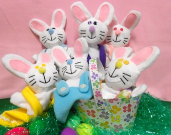 Hand puppets  fits hands of 3 years and up. Bunnies and more Bunnies