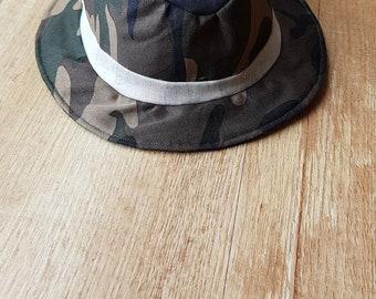 Boys Hat, bucket hat, summer hat, Camouflage, gift, 9 mon -4 Yrs, Costume hat