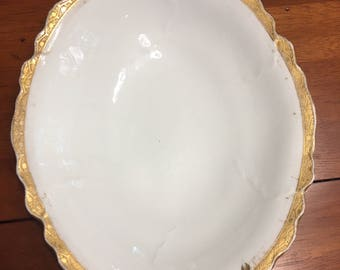 Limoges France L S and S Gold Gilted platter Lazarus Straus and Sons