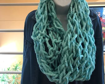 Teal Cozy Cowl