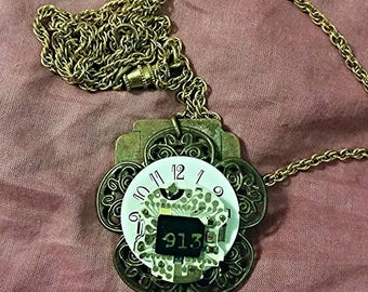 Steampunk key and watch pendant
