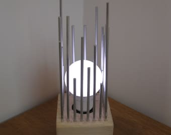 Lamp unique metal and wood