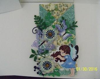 decorative gate fold greeting card