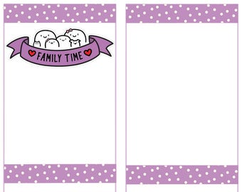 Family Time, Fingie Stickers, Planner Stickers -005