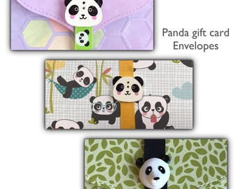 Panda gift card holder | money card | lottery ticket | DIY coupon | voucher holder | charity | stocking filler