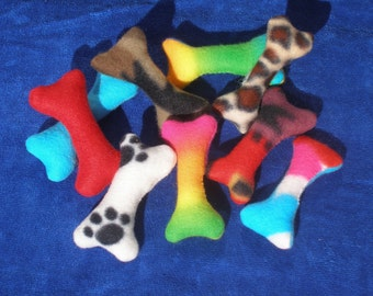 Hubby Stuffed DOG or CAT Bone Toy - Variety Package of 3 bone toys - small