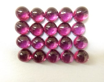Rhodolite Beautiful Round Shape Cabochon Purplish Red Color 2cts from Big Lot