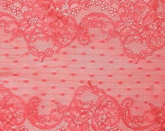 D 20 - 24 cm salmon pink lace.