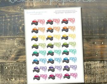 Road Trip Planner Stickers by Lavish Paper Co. Car stickers, road trip, vacation stickers, functional sticker, colorful sticker,