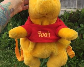 Vintage Disney Winnie The Pooh Plush Back Pack