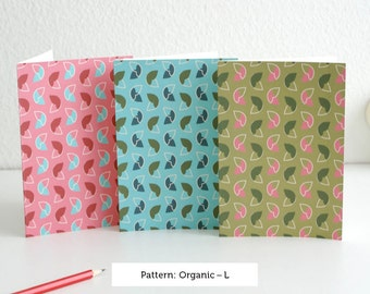 Organic card set by pattern