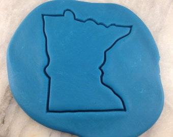 Minnesota Cookie Cutter Outline - SHARP EDGES - FAST Shipping - Choose Your Own Size!