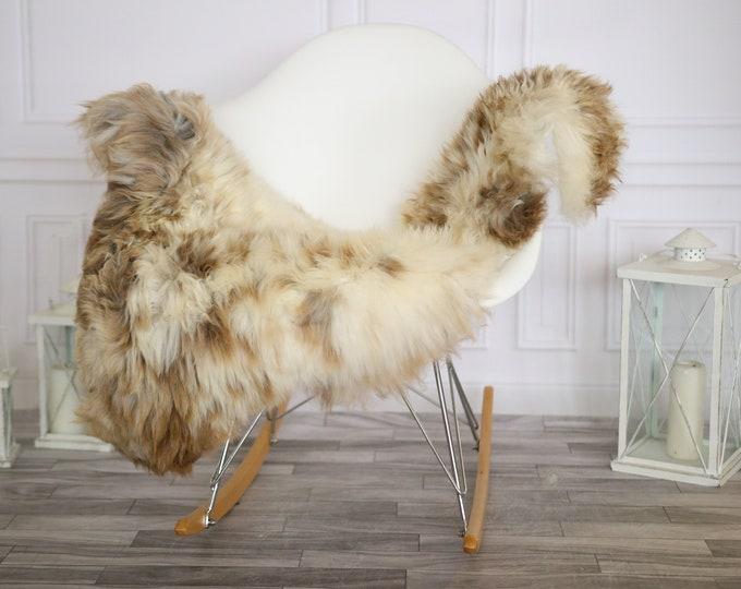 Sheepskin Rug | Real Sheepskin Rug | Shaggy Rug | Chair Cover | Sheepskin Throw |Beige Brown Sheepskin | Home Decor | #HERMAJ39