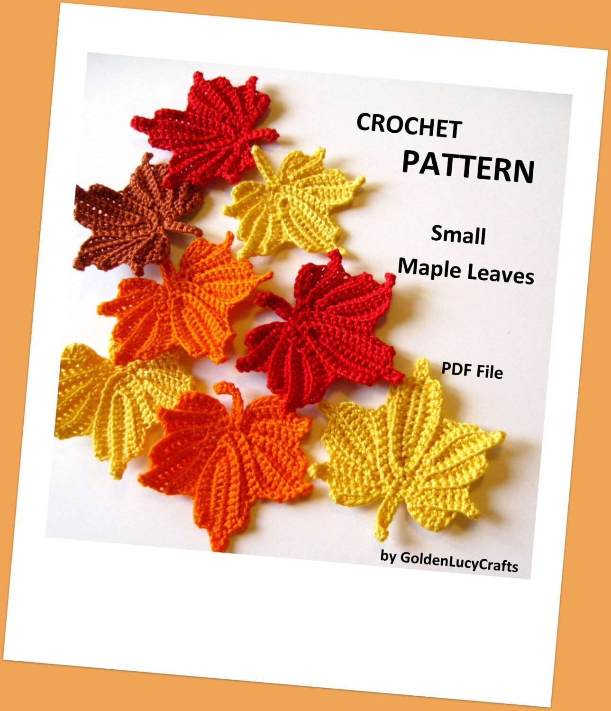 Small Maple Leaves Crochet Pattern from GoldenLucyCrafts on Etsy Studio