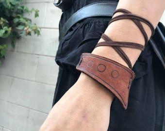 Spacepunk leather armband