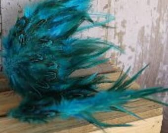 Teal Newborn Pheasant Feathered Wings