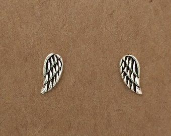 Sterling Silver Wing Stud Earrings, Angel Wing, Sterling Silver, Wings, Stud Earrings, Angel, Minimalist, Fairy, Studs, Earrings, Silver