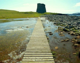 End Of The Road - Stunning Landscape, Scotland, Mood Photography, Hiking Path, Beautiful Print, Remote Nature, Shetlands, Travel Scenery