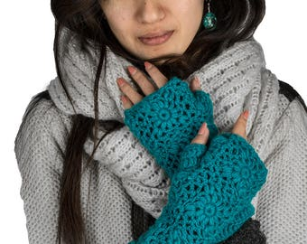 Wool Arm Warmers, Knit Wrist Warmers, Fingerless Gloves, Hand Warmers, Winter Gloves, Fingerless Mittens