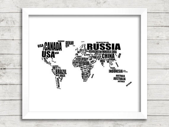 Map of the world world map printable world map black and te gusta este artculo gumiabroncs Gallery
