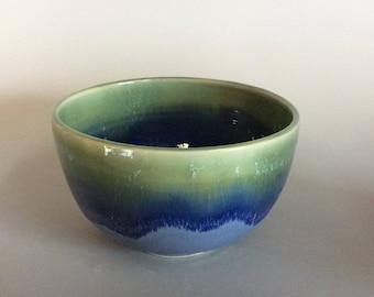 Small ocean blue prep bowl