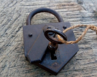Small antique Padlock working with Key