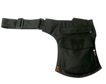WATER MODEL - Utility belt marsupio pocket festival travel holster borsa cintura pouch leg hip bag fondina tracolla tasca portadocumenti