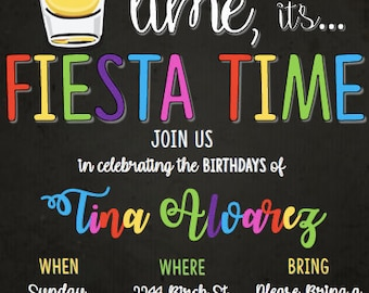 Fiesta Adult Birthday Invitation