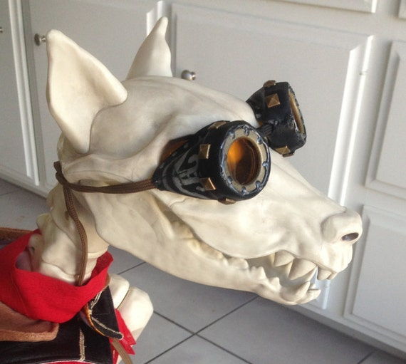 & Steampunk Dog Goggles Aviator K-9 Flying Ace Dog Costume