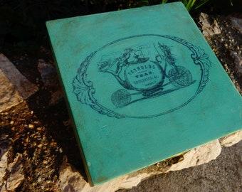 wooden tea box/elegant tea box/tea storage box - REYNOLDS TEA, 4 compartments