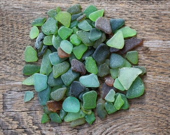 100 extra small seaglass green sea glass crafting vase filler beads for jewelry making zen garden natural jewelry supply for fairy garden