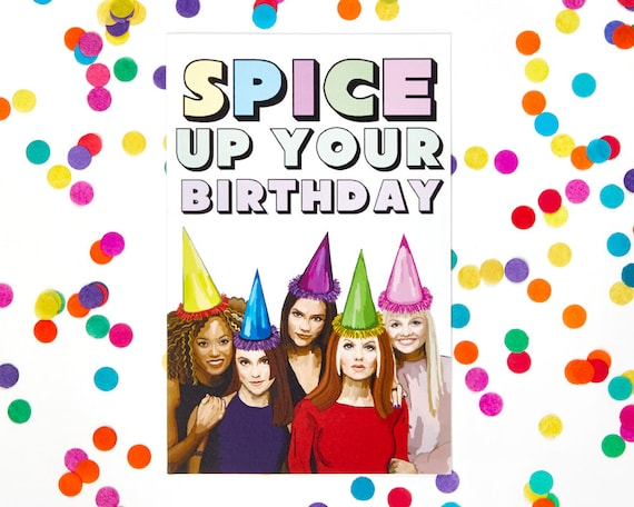 Spice girls birthday card funny card posh baby sporty like this item bookmarktalkfo Images