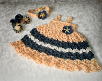 Ensemble robe de tournesol 3 pièces