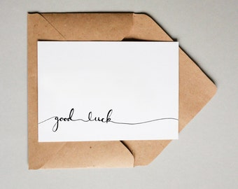 Good Luck Banner // Downloadable and Printable // Digital // Hand Lettered // Greeting Card // Just Because