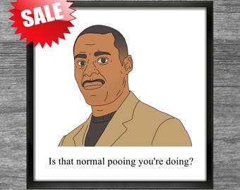 Peep Show Print | Johnson | Is that normal pooing you're doing?