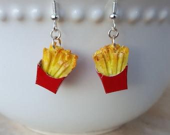 French Fry Earrings - Food Jewelry - Food Earrings