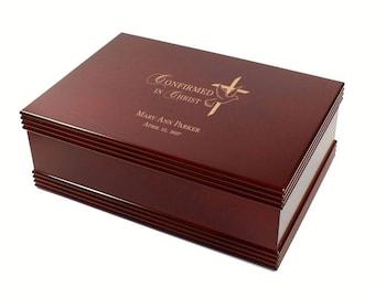 Confirmation Rosewood Keepsake Box