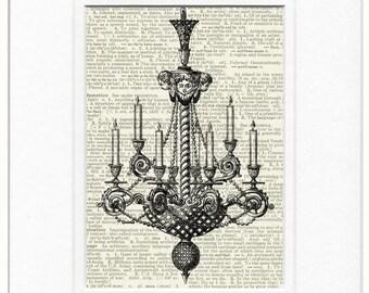 chandelier III B&W print