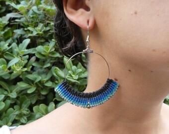 Macramé Earrings Aztec Style