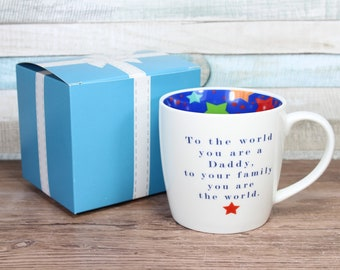 To The World You Are A Daddy Inside Out Mug With Gift Box