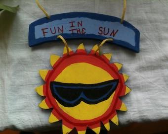 Fun in the Sun Door or Wall Hanging Sign