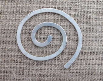 spiral shawl pin - sterling silver