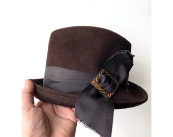 Henry Pollack Vintage Glenover Brown Wool Womens Dress Hat