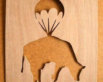 Banksy Cow Parachute Stencil