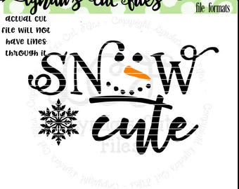 Snow Cute//Winter//Christmas//SVG/EPS//DXF file